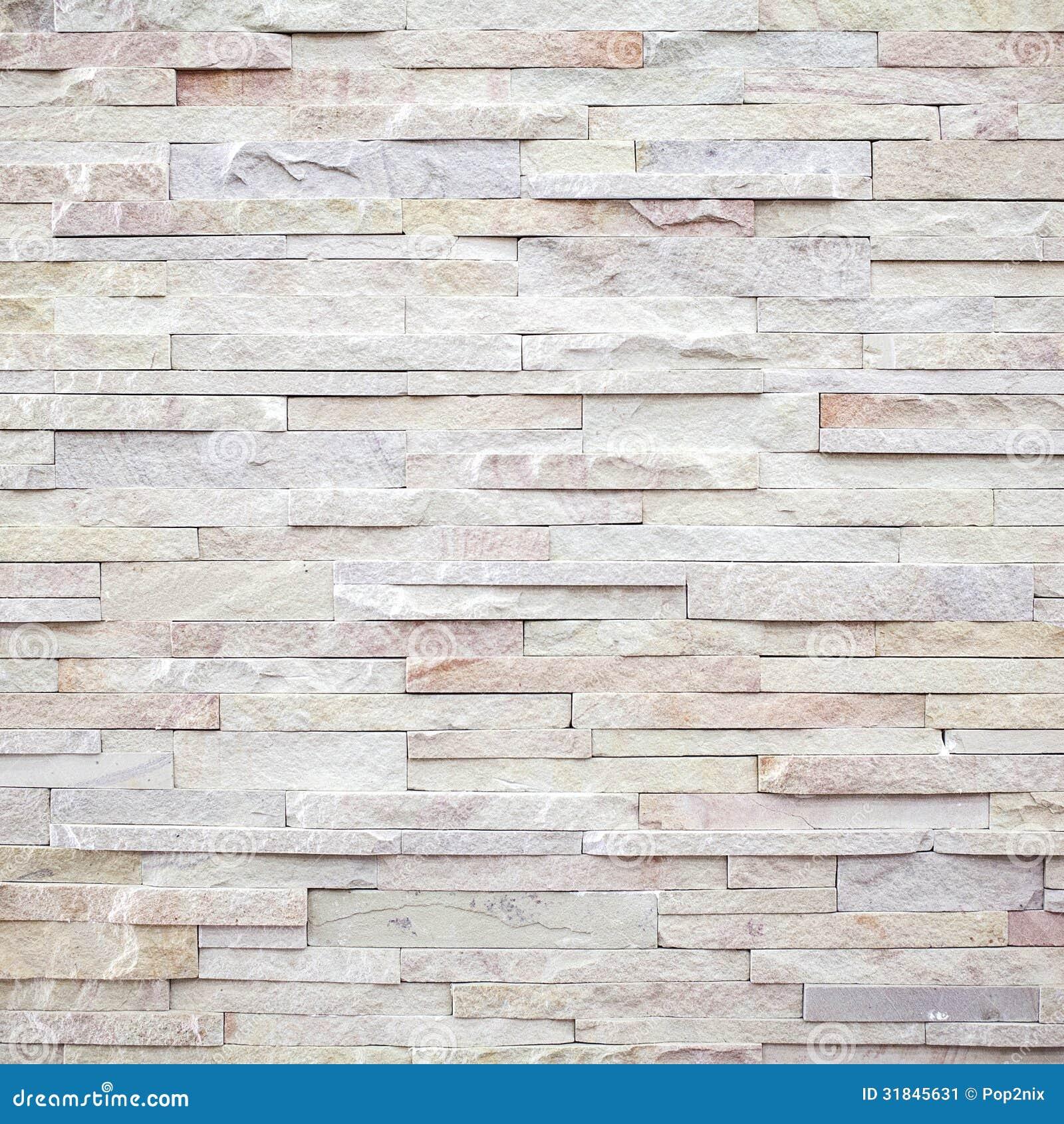 White Modern Stone Brick Wall Stock Image Image 31845631