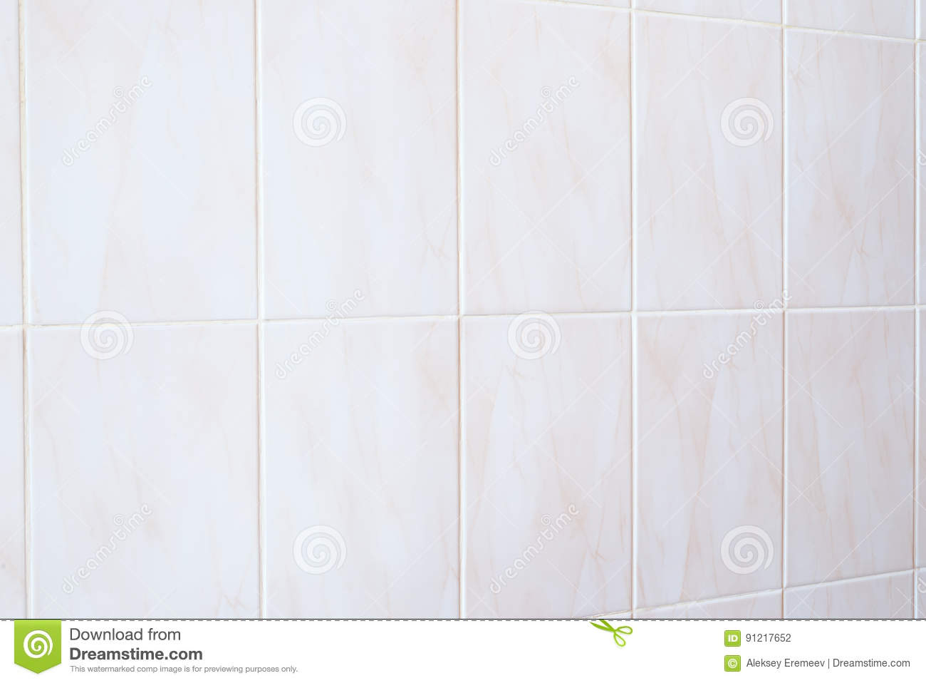 White Mosaic Tiles Abstract Background And Texture. Horizontal Frame ...