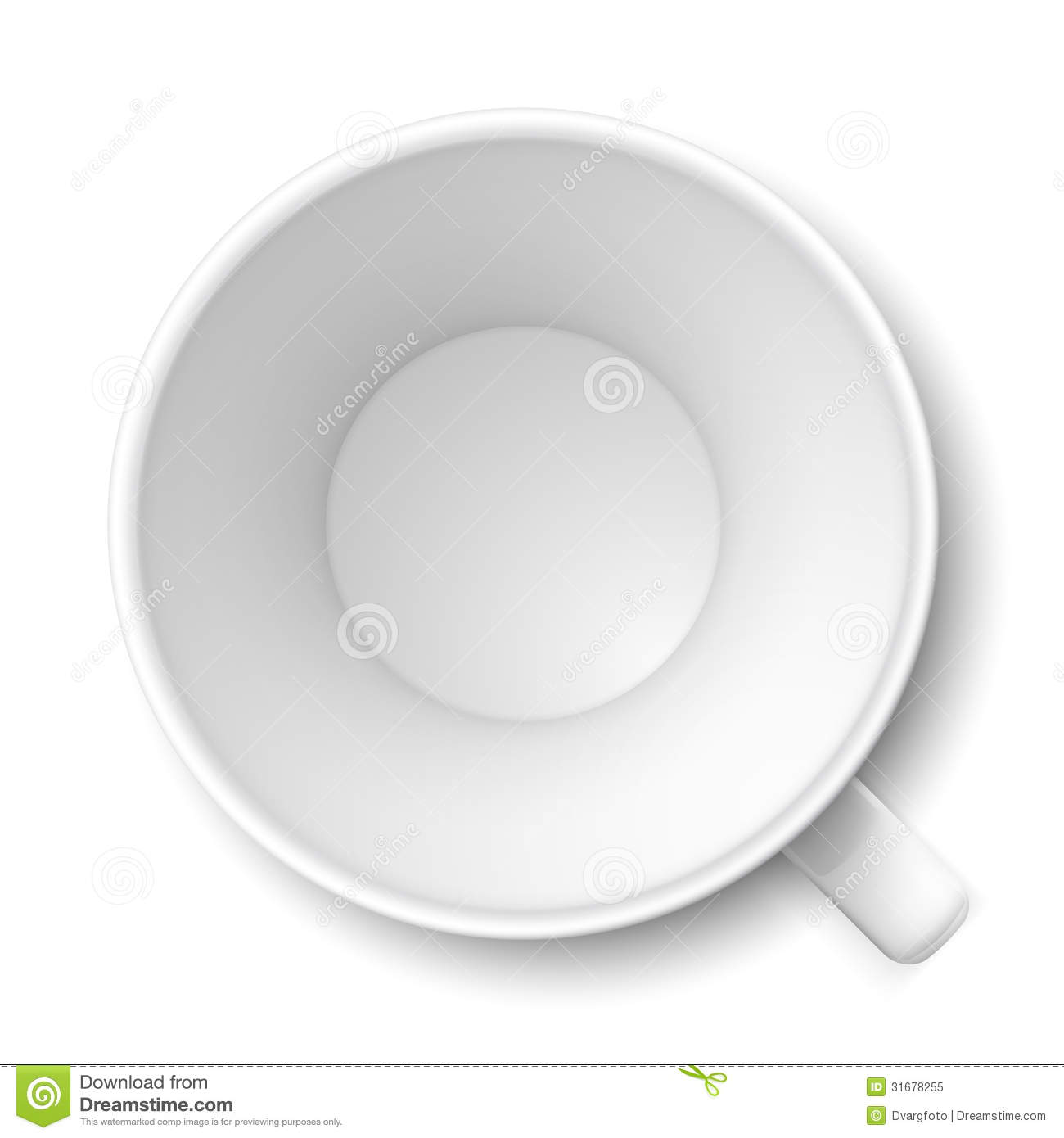Empty Cup Top : White mug royalty free stock photo image