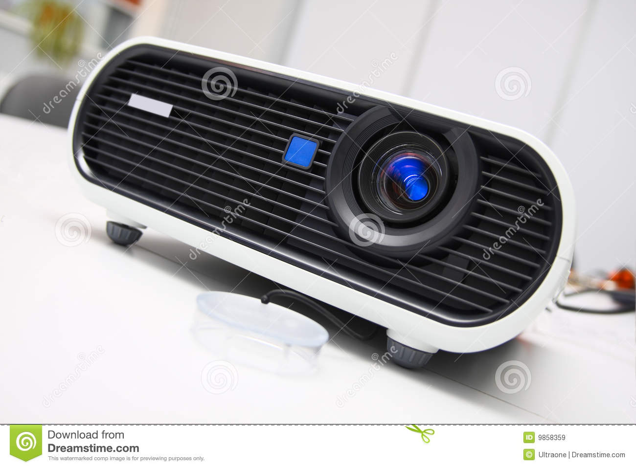 White multimedia projector