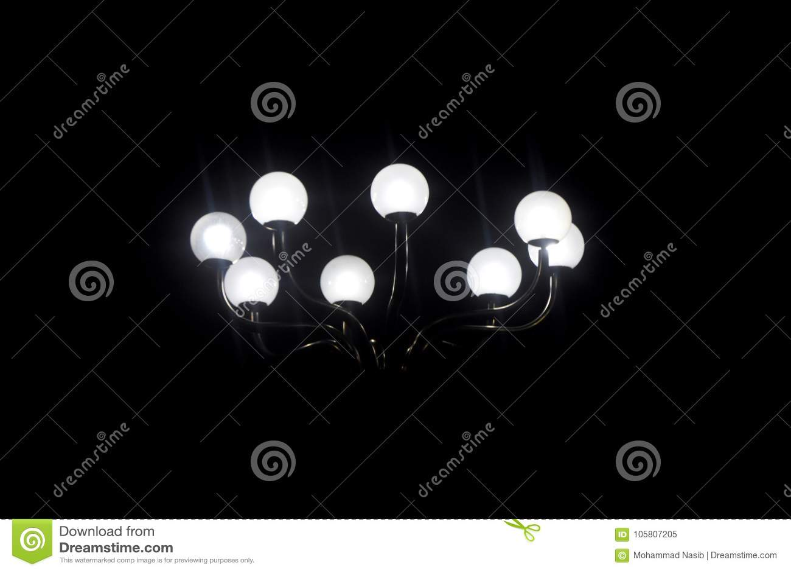 Street Lights White Dark Background Photograph Stock Image Image Of Street Night 105807205