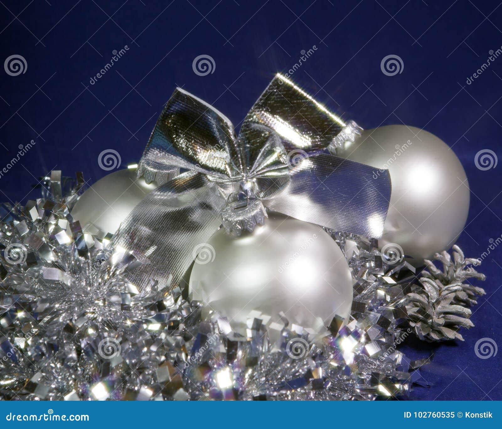 White nacreous glass New Year ball