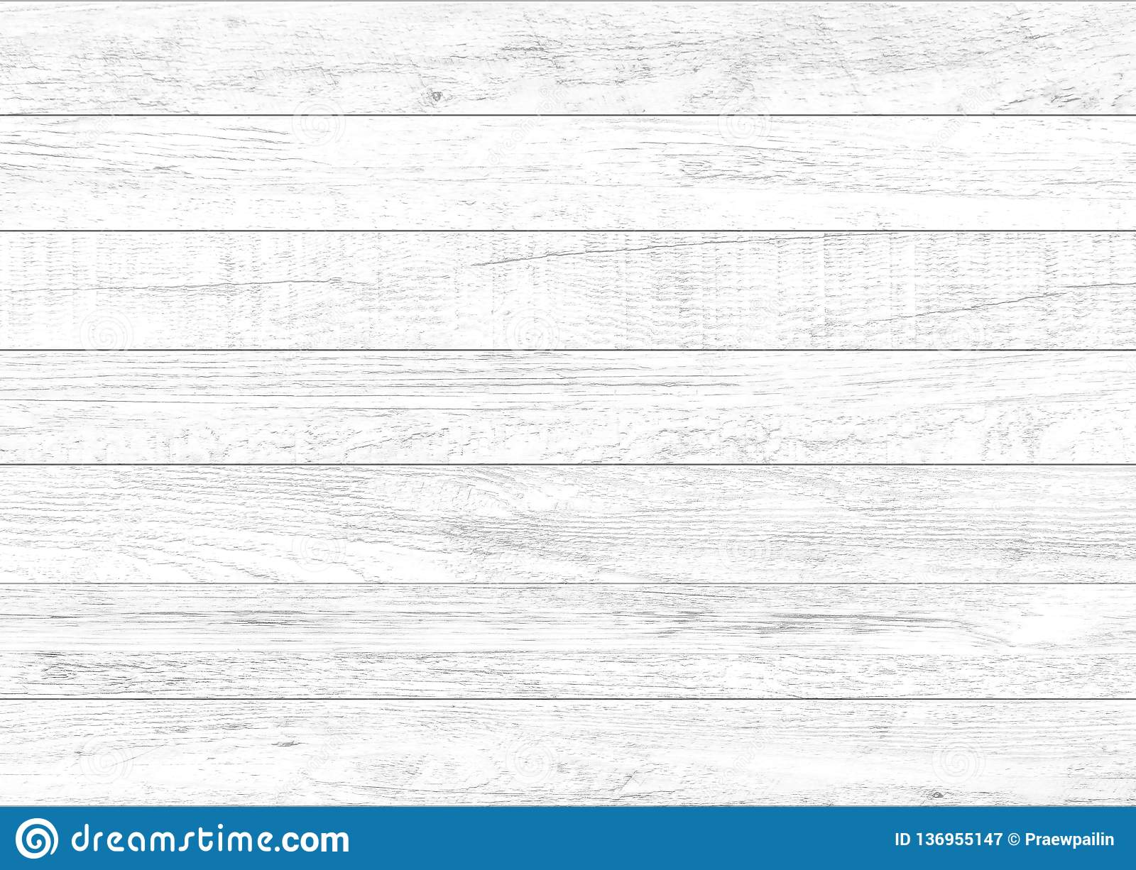 White natural wood wall background. Wood pattern and texture background
