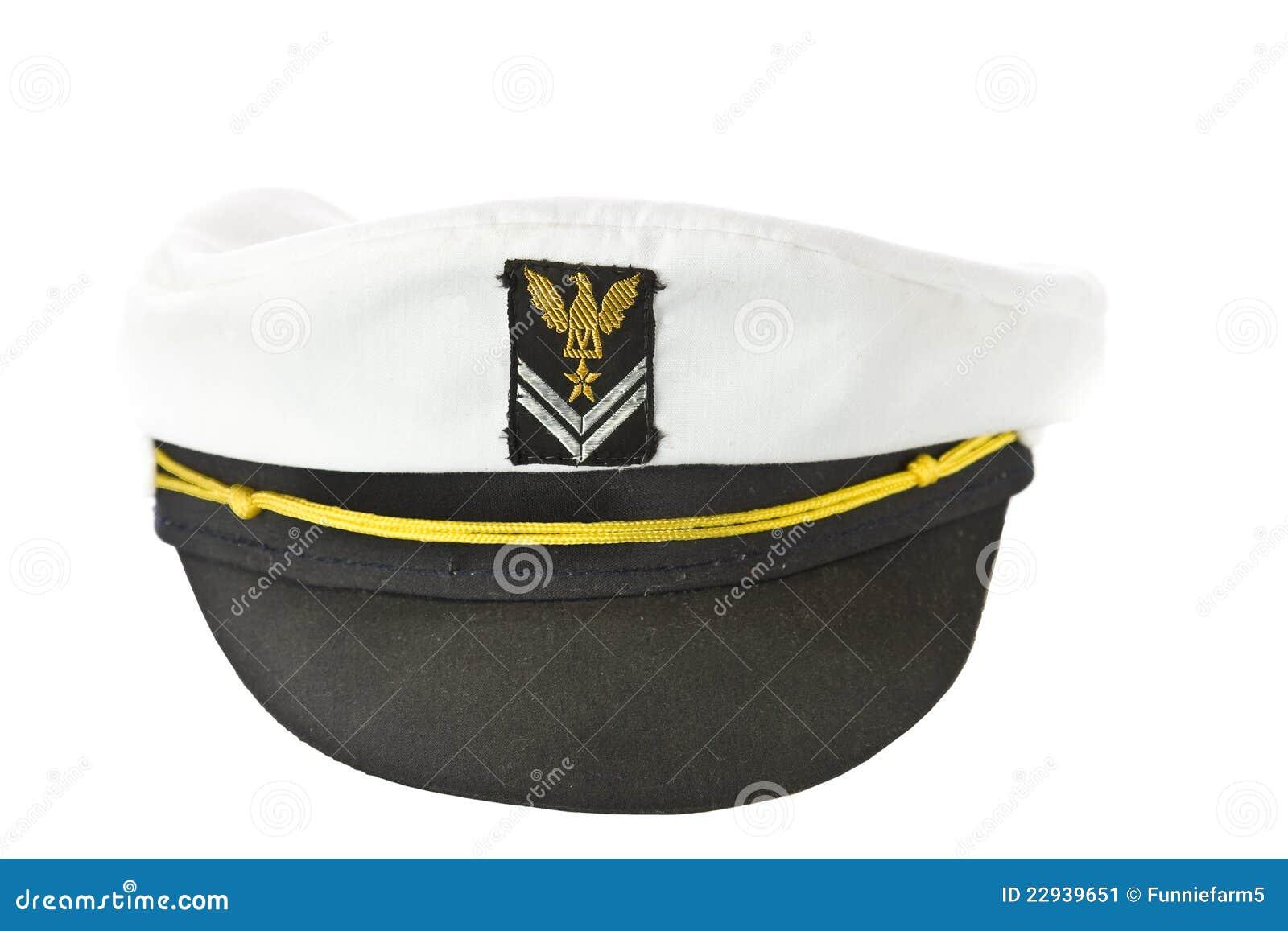 White Nautical hat isolated on white