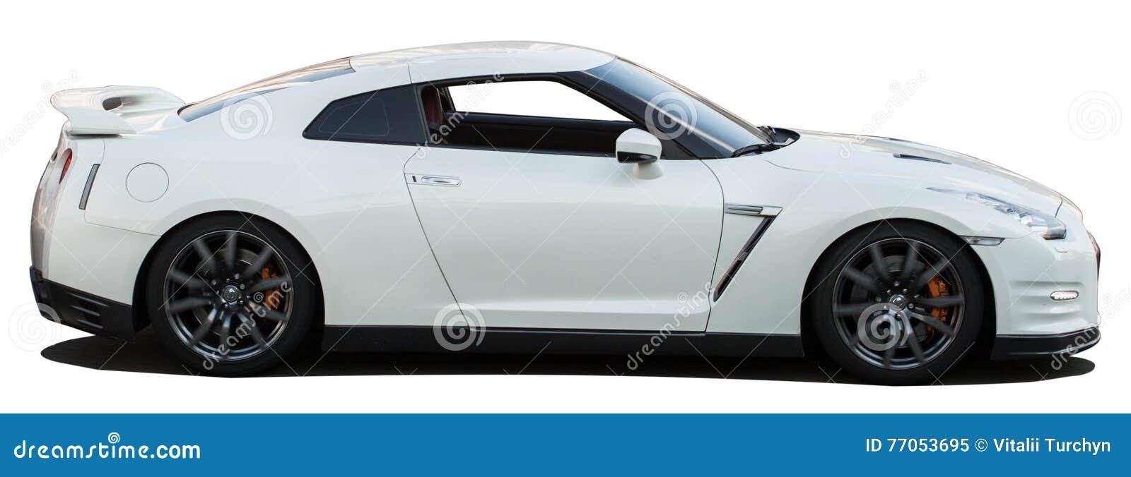 Gtr No Background >> White Nissan Skyline Gtr On A Transparent Background Stock Photo