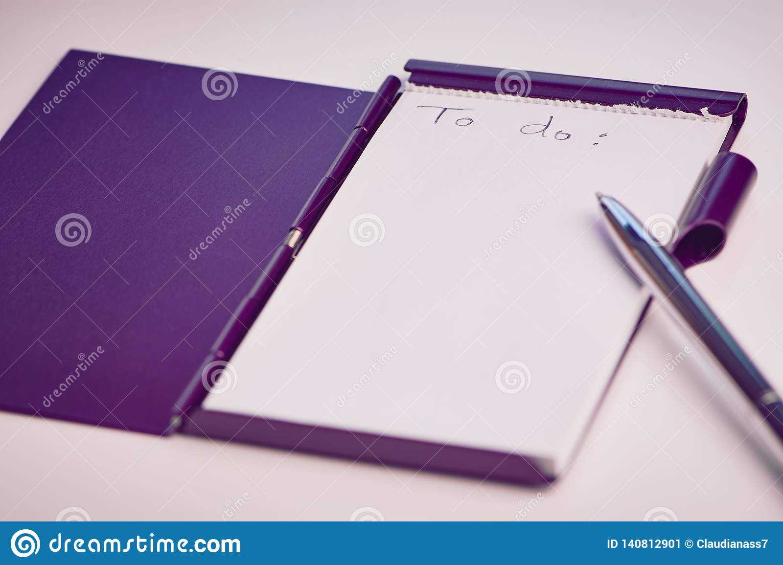 White Notepad With The English Words: To Do Stock Image - Image of