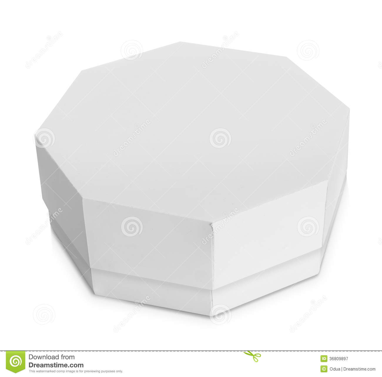 white octagon shaped box royalty free stock photography