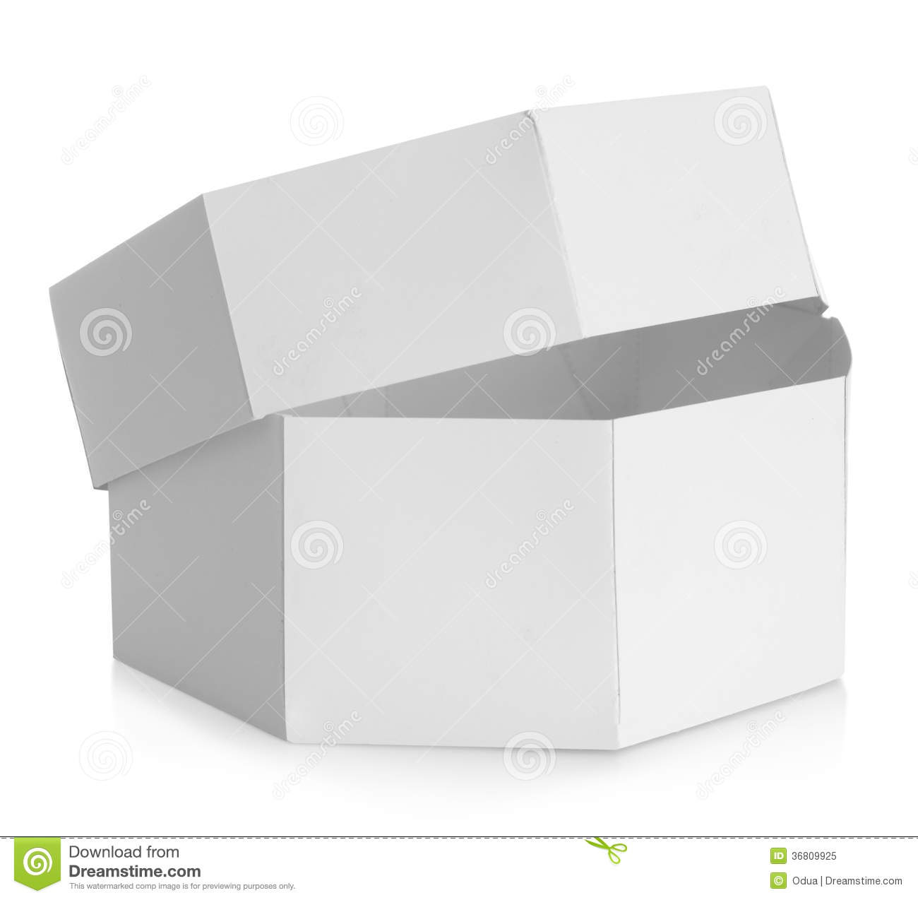 White Octagon Shaped Box Royalty Free Stock Photo Image