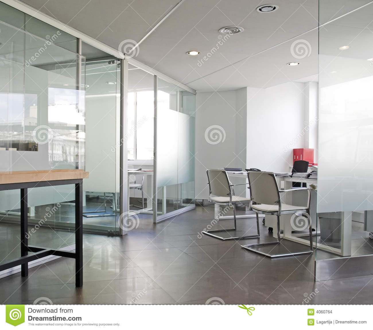 White Office Interior Stock Photo Image Of Office Summer