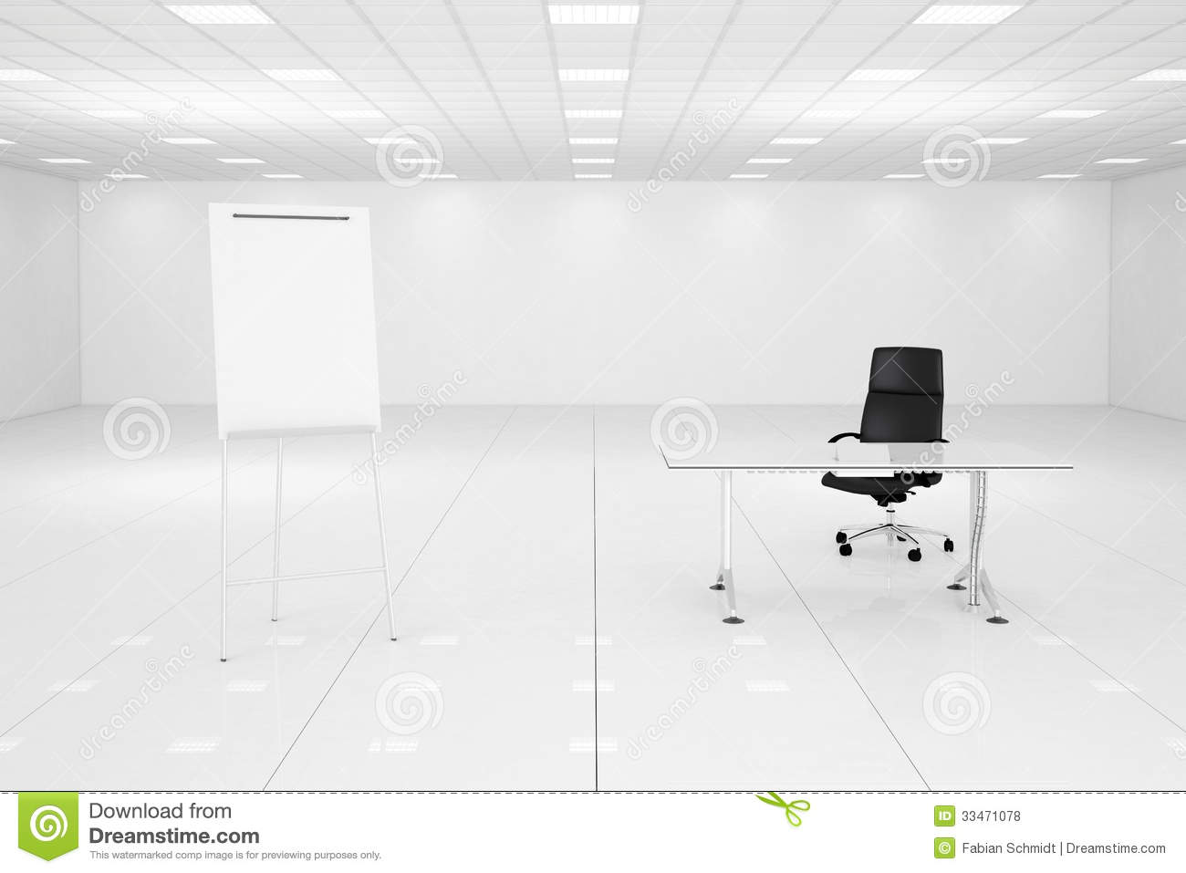White Office Room With Flipchart Royalty Free Stock Photos