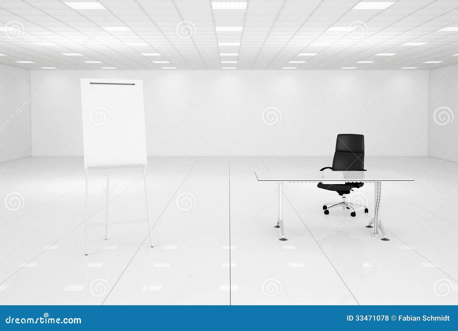 White Office Room With Flipchart Stock Illustration