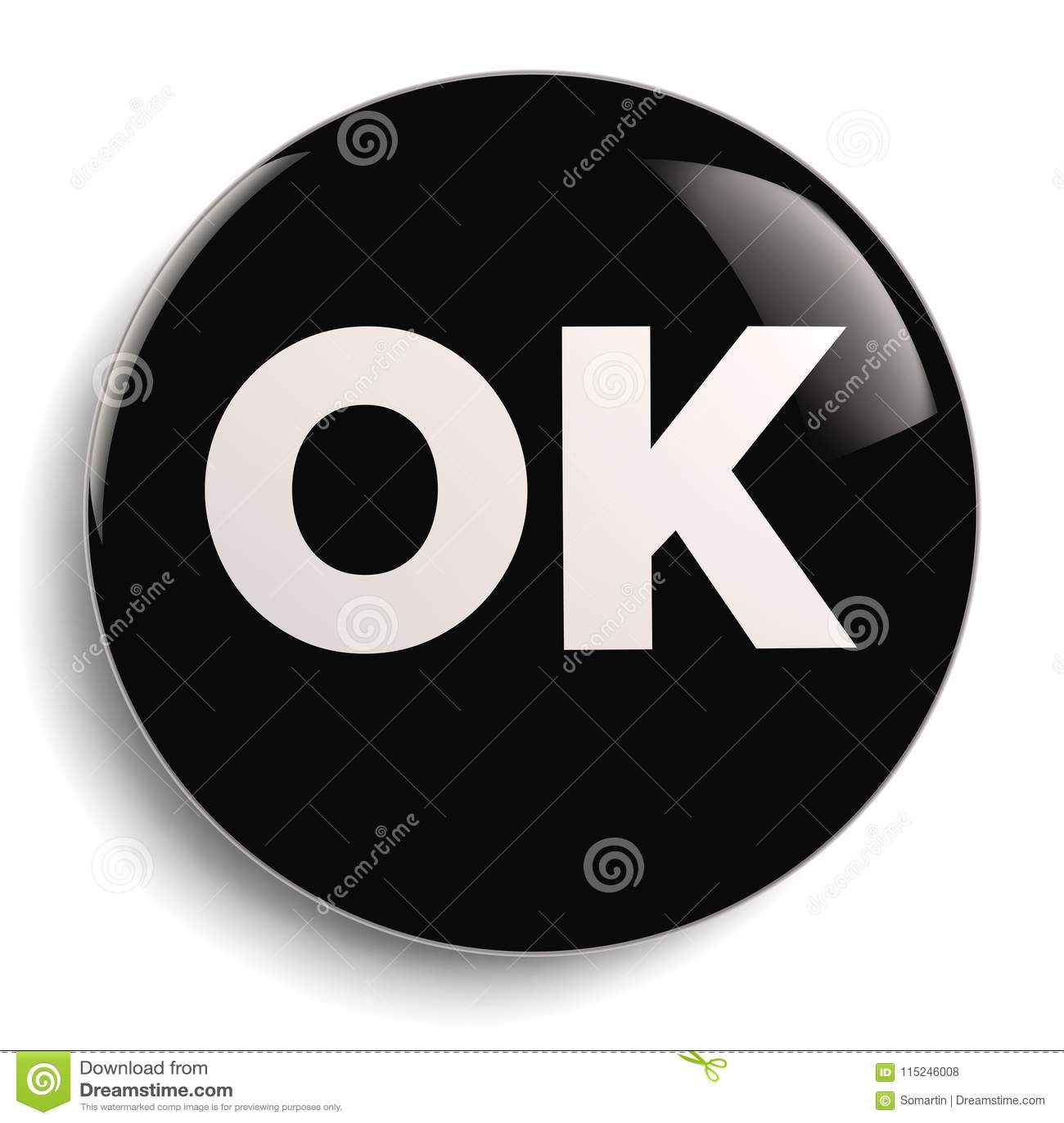 Ok Round Icon Symbol Stock Illustration Illustration Of Success