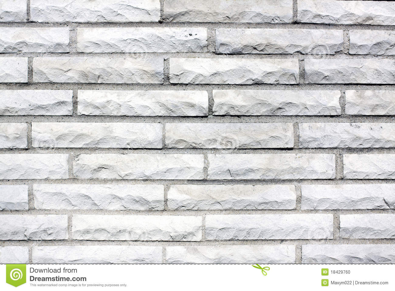 White Old Brick Wall Stock Photo Image 18429760
