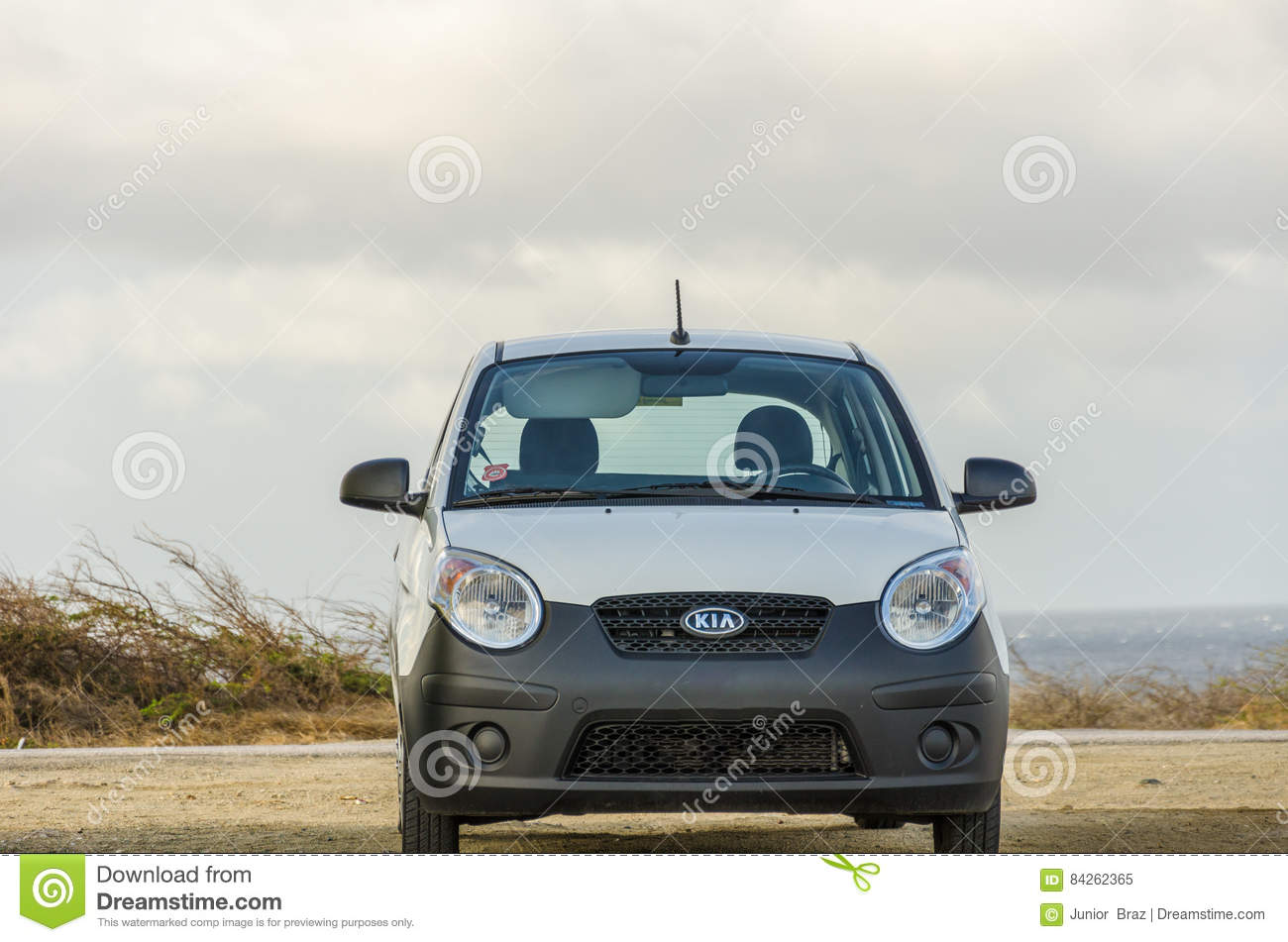 Awesome Download White Old Kia Picanto City Car On Desert Editorial Image   Image  Of Caribbean,