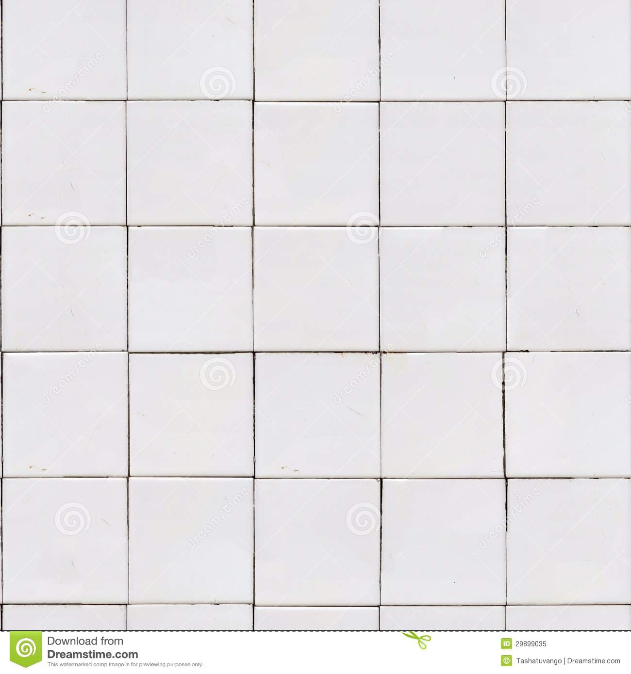 White Old Tile Wall. Seamless Tileable Texture.