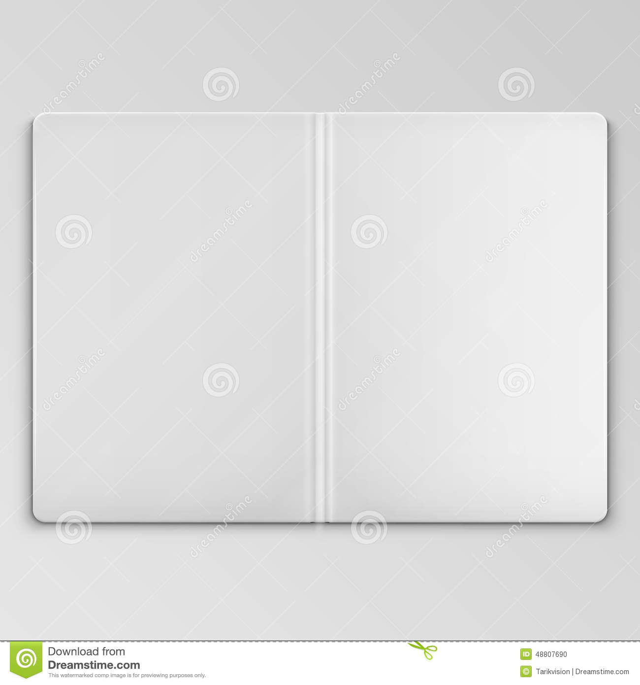 White open book cover template stock vector image 48807690 for Book cover template illustrator