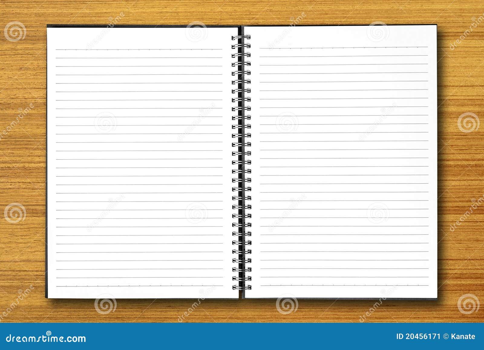 White Open Notebook On Wood Stock Image Image 20456171