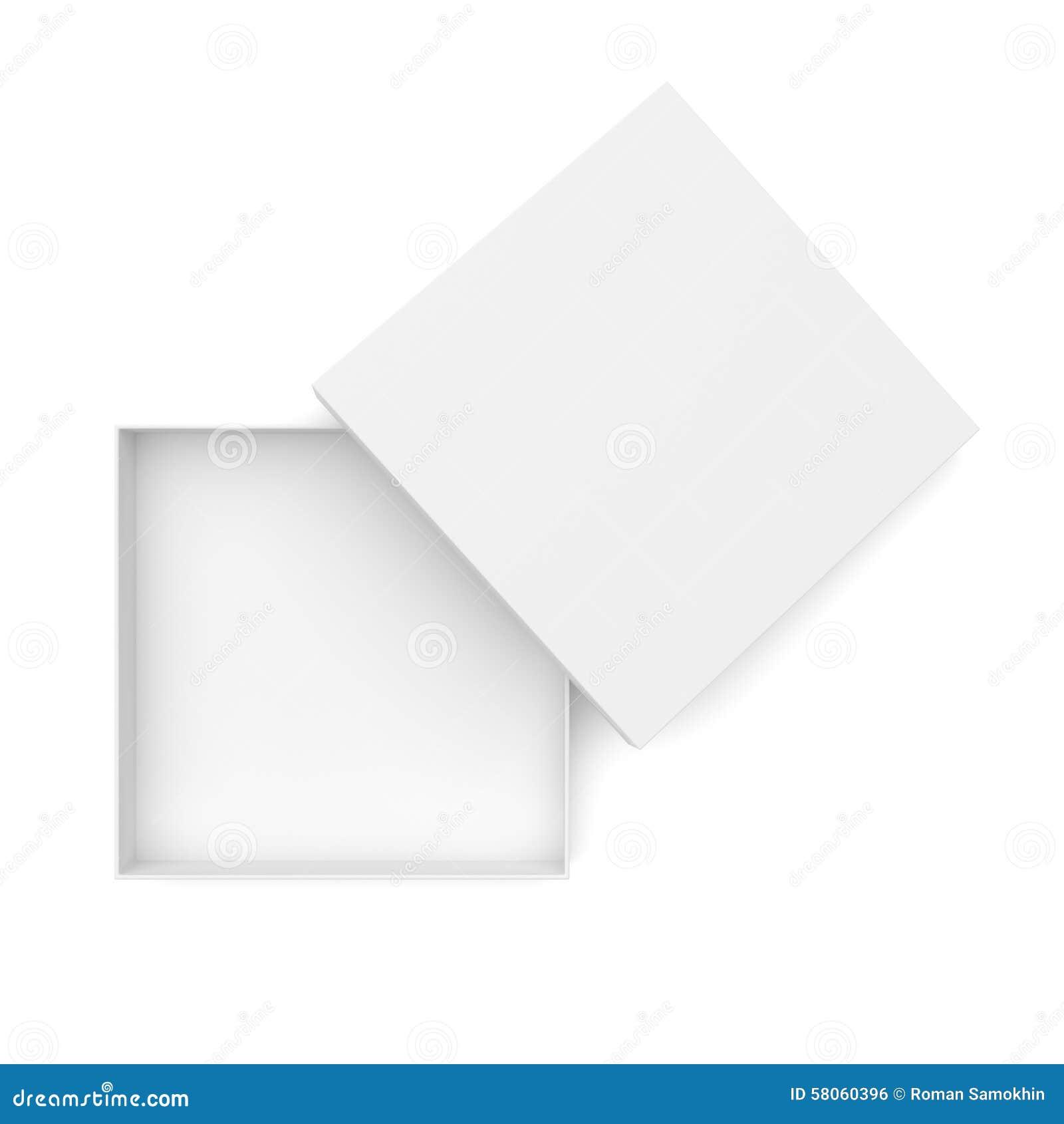 White Opened Flat Box Stock Illustration Image 58060396