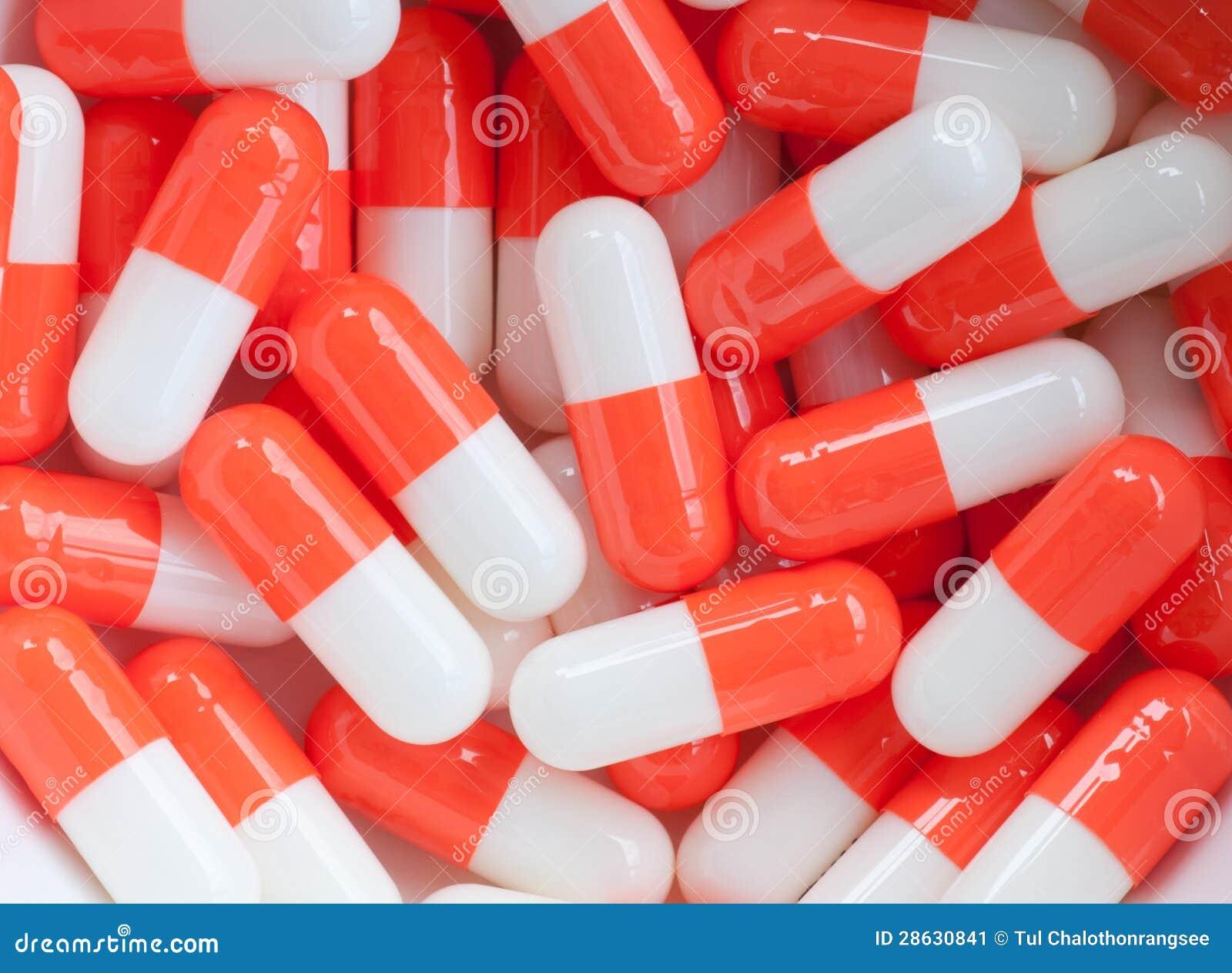 White And Orange Capsule Pills Stock Image Image 28630841