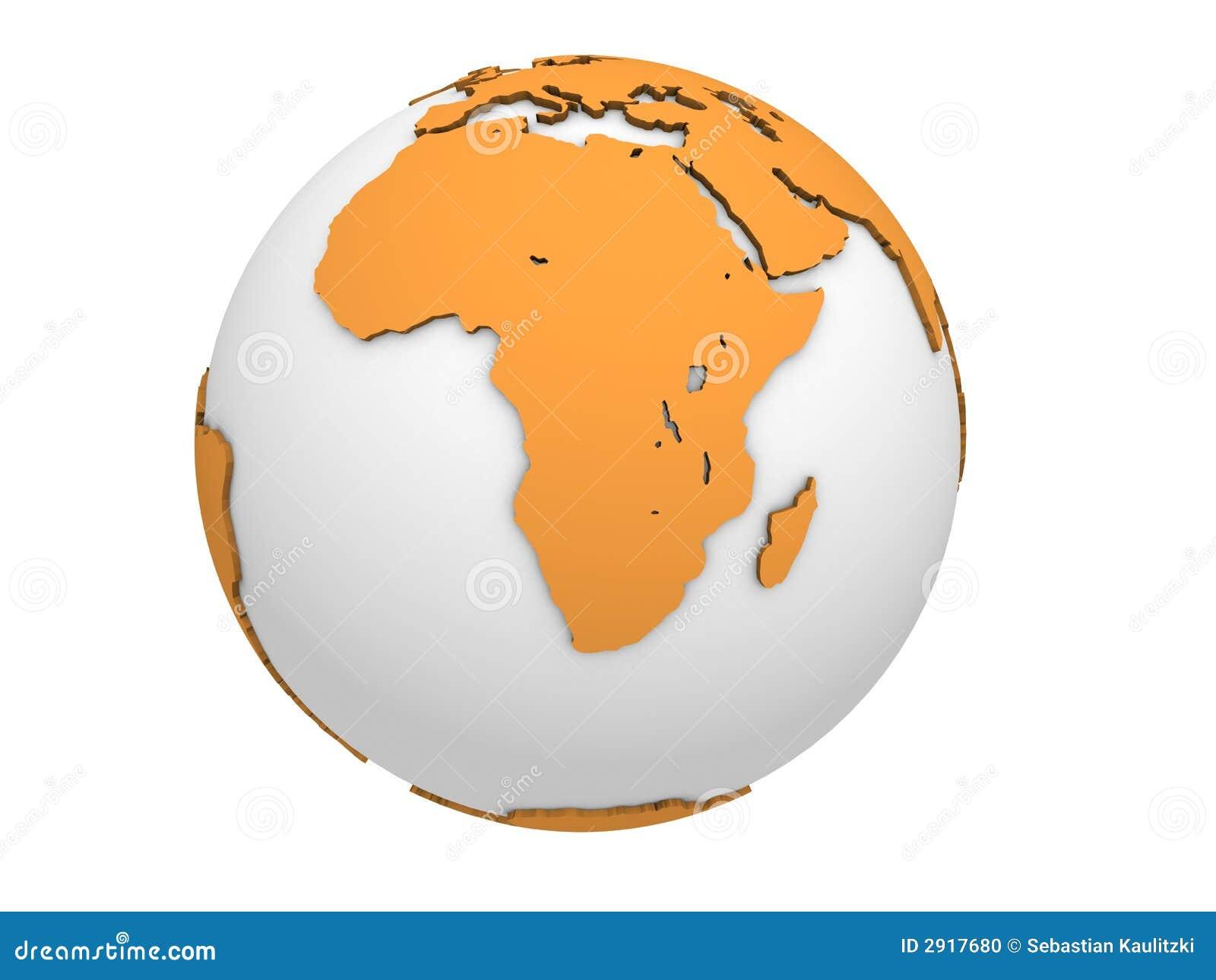 White Orange Globe Stock Photo Image 2917680