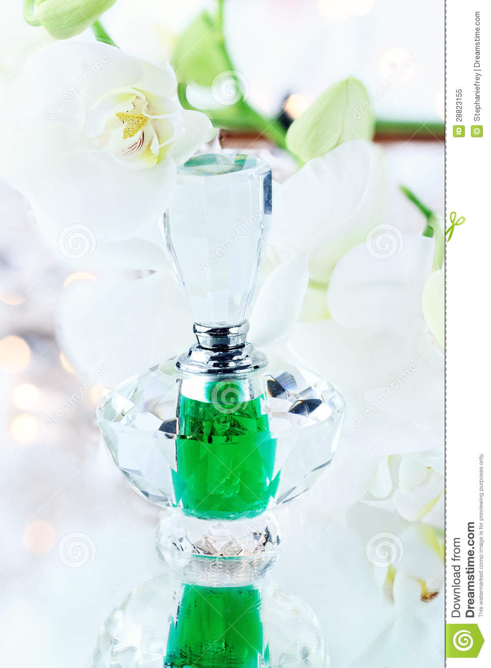 White Orchid and Perfume or Essence