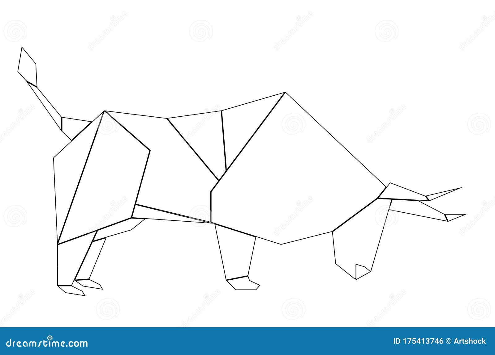 Origami Bull | Blitz Origami | Flickr | 1149x1600