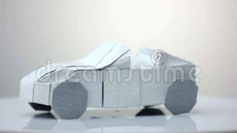 White Origami Car Model Stock Video Image Of Colorful 115550499