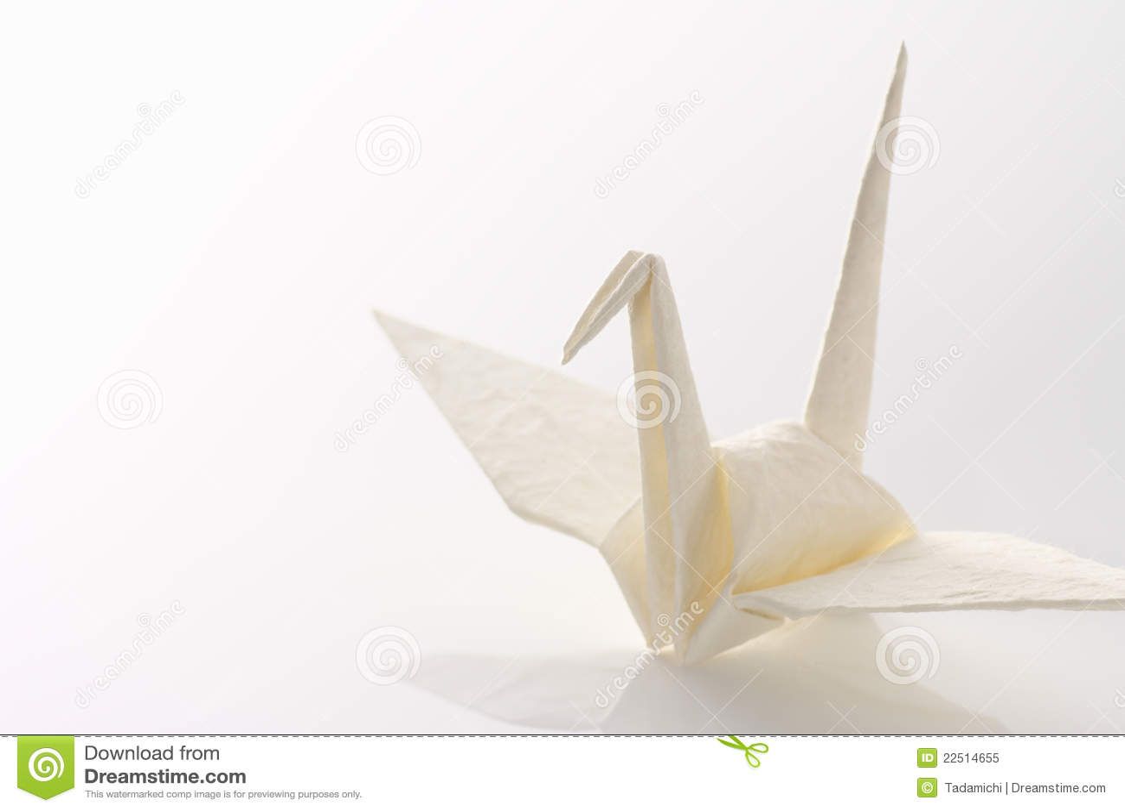 white origami crane royalty free stock photo image 22514655