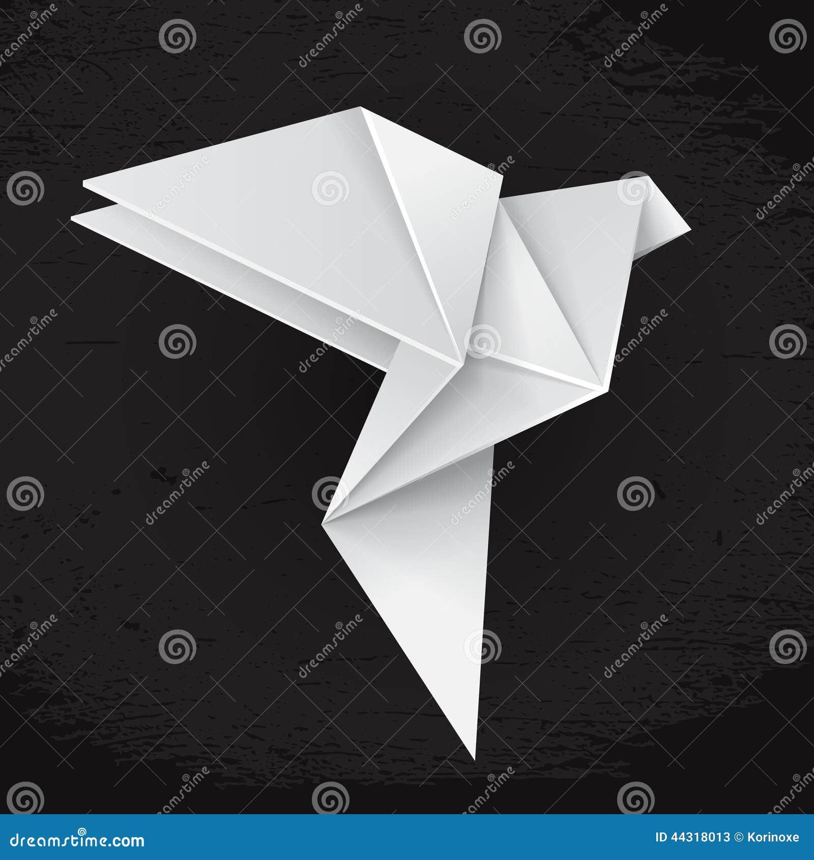 White Origami Dove Stock Vector - Image: 44318013 - photo#20