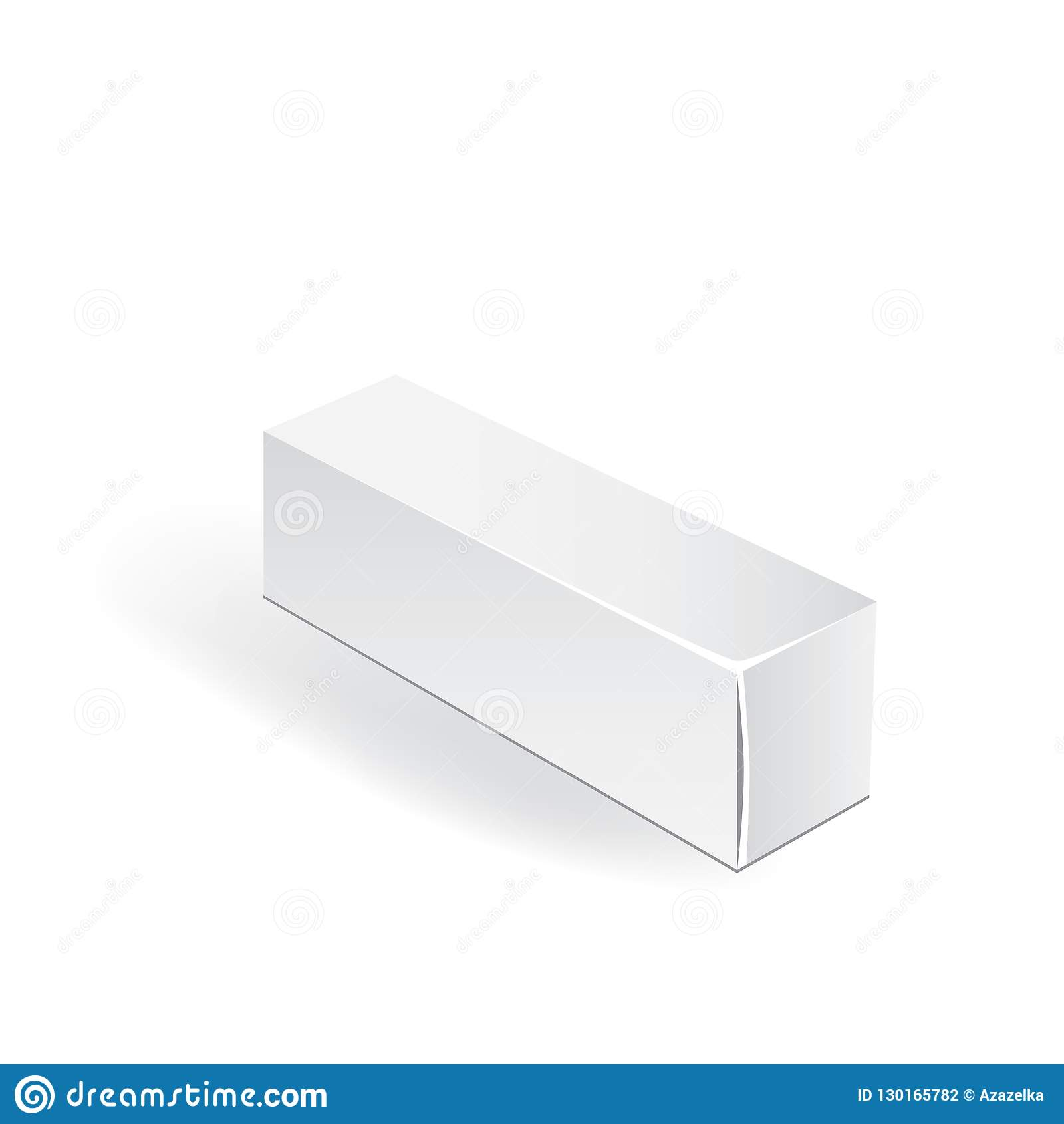 white package box packaging mock up template good for a food