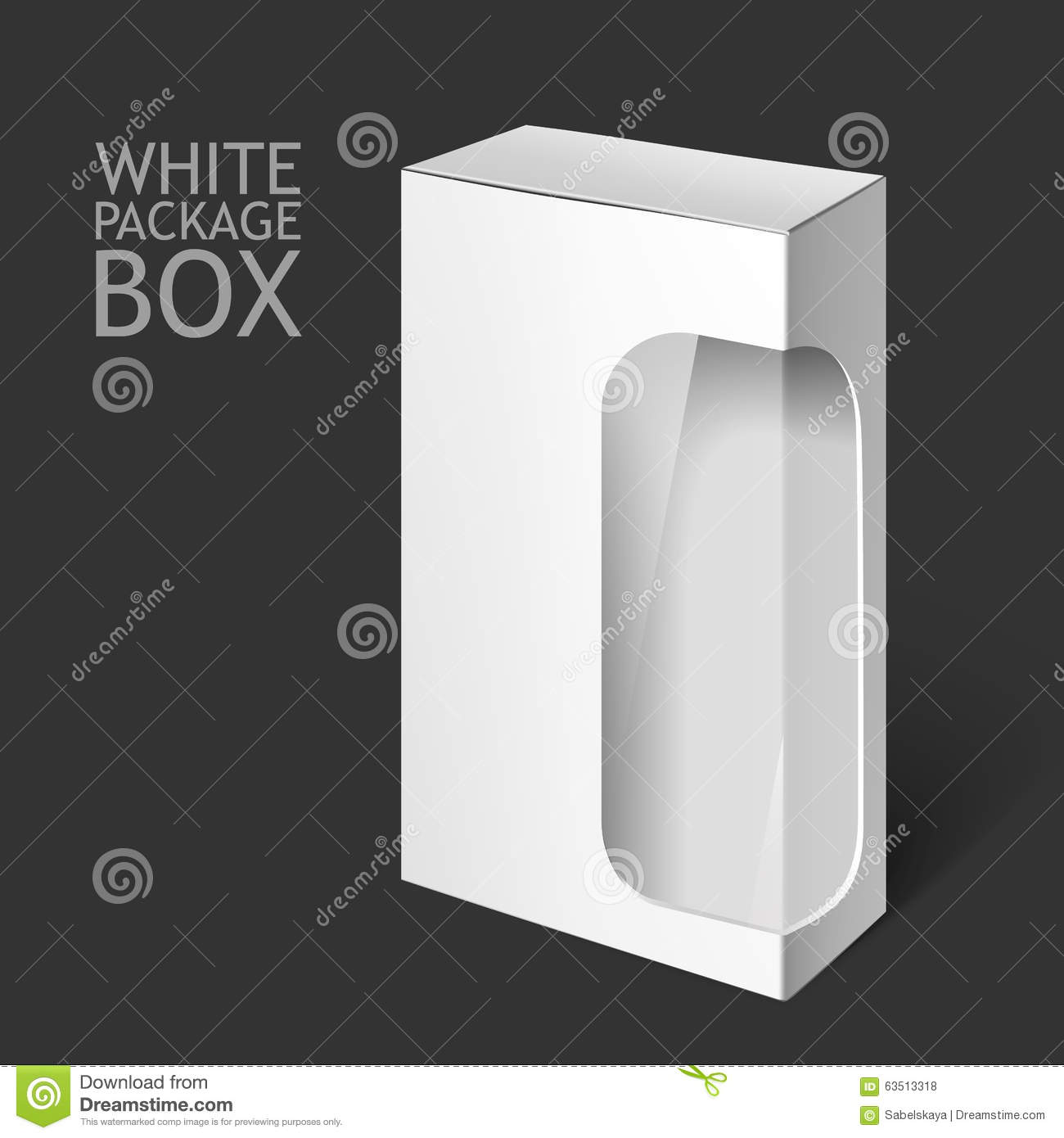 White package box with window mockup template stock illustration white package box with window mockup template buycottarizona Gallery