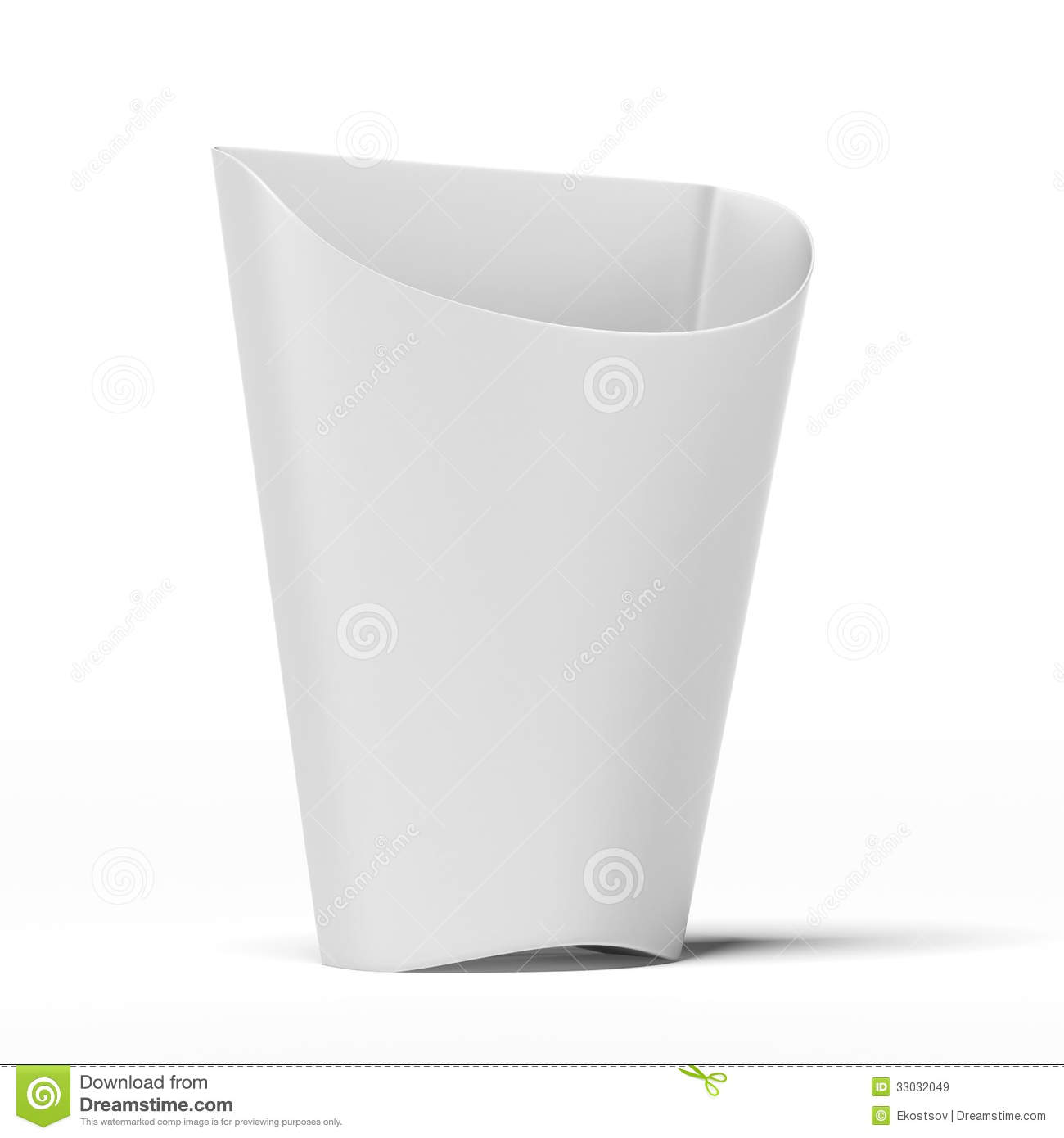 White Package Container For French Fries Royalty Free