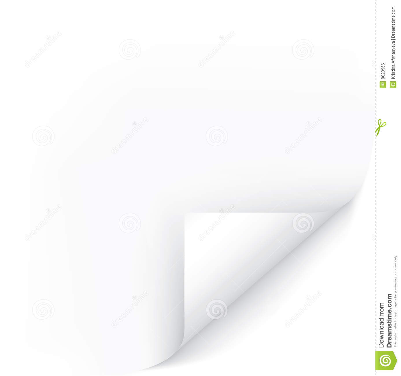Page: White Page Corner Stock Vector. Illustration Of Sheet