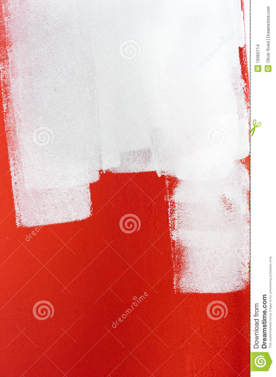 White Paint Over Red Wall Stock Illustration Illustration