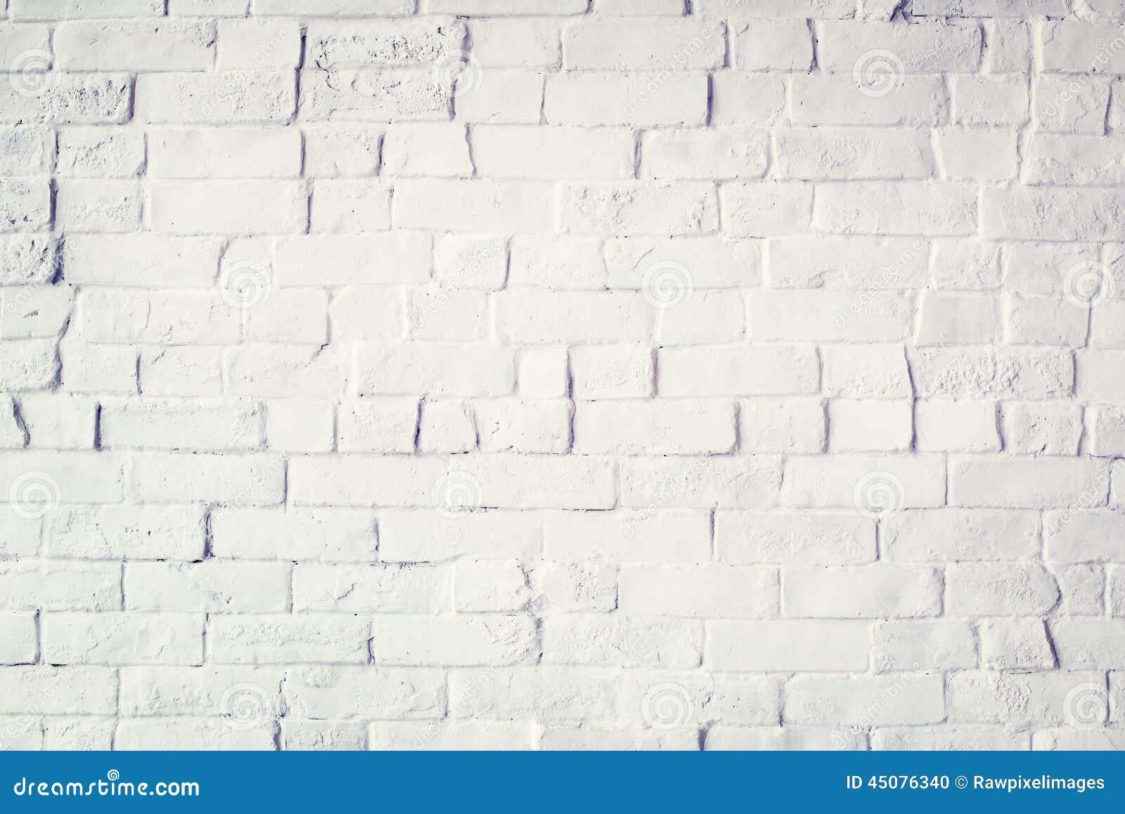 White Painted Beautiful Brick Wall Stock Photo Image