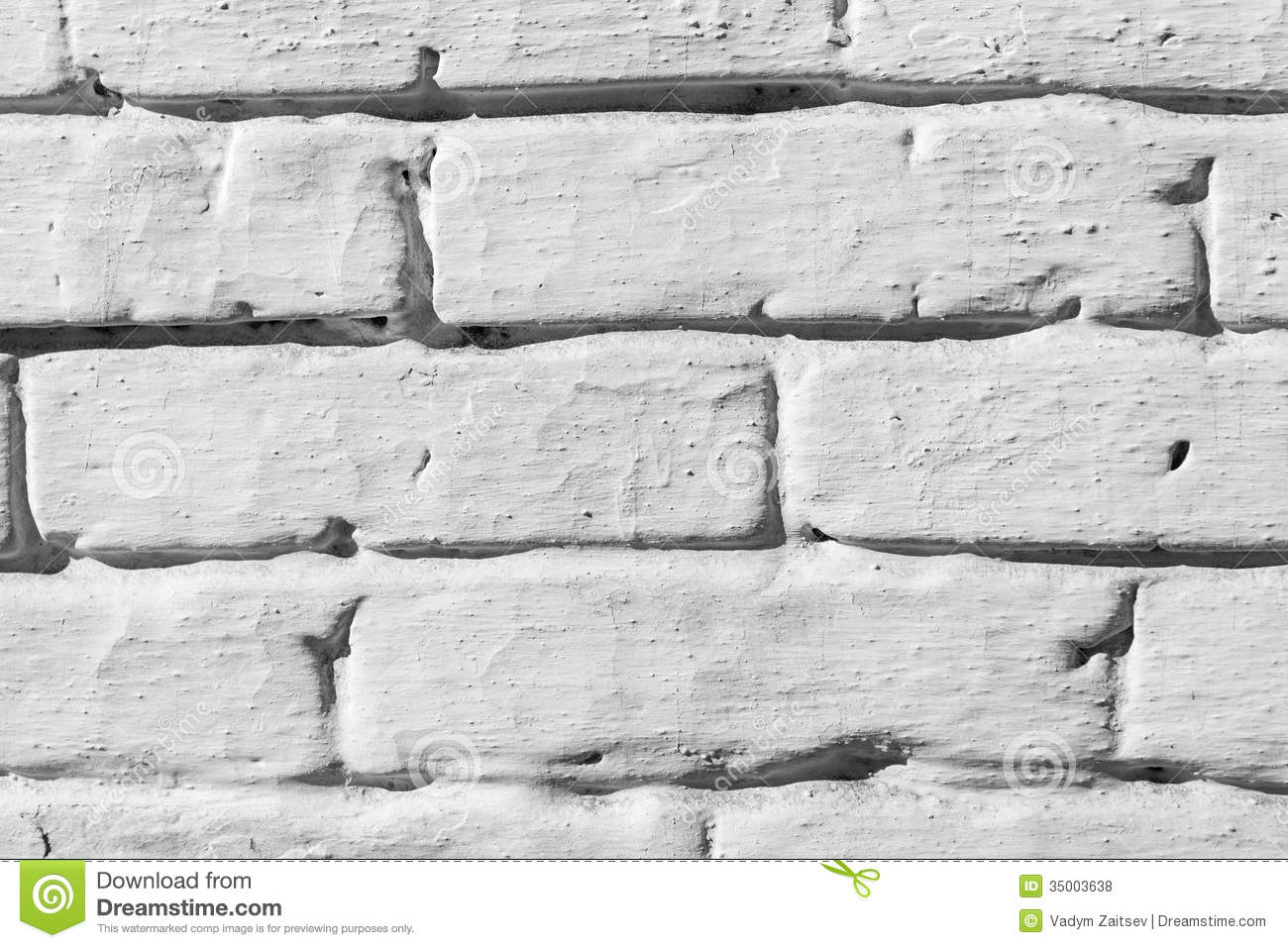 White Painted Brick Wall Royalty Free Stock Photos Image