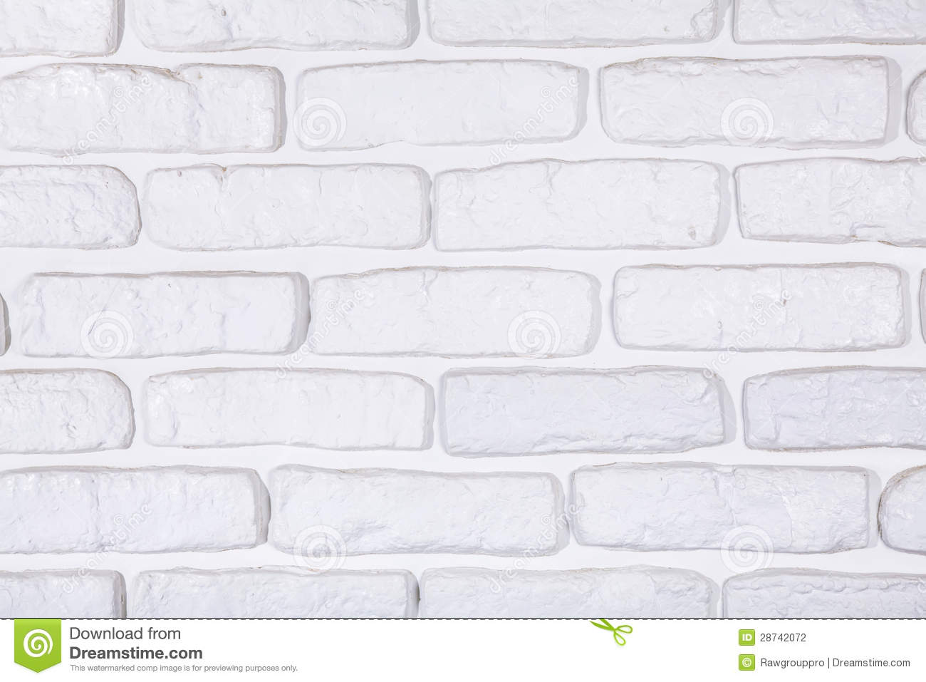 White Painted Brick Wall Texture Background Stock
