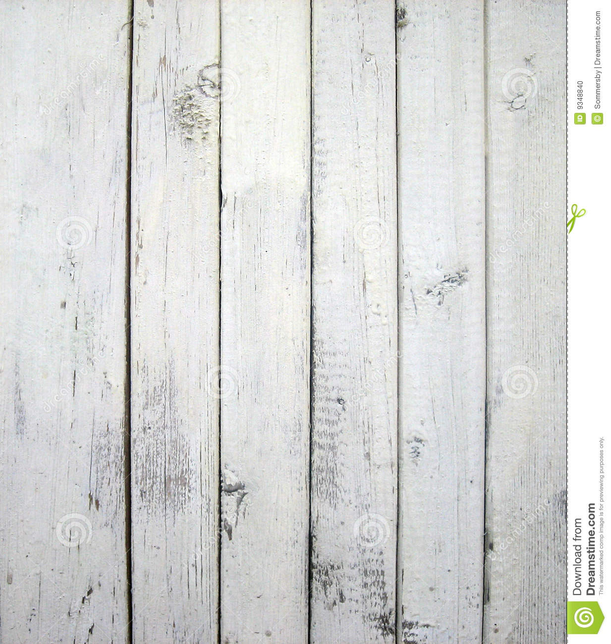 White painted old wooden wall.
