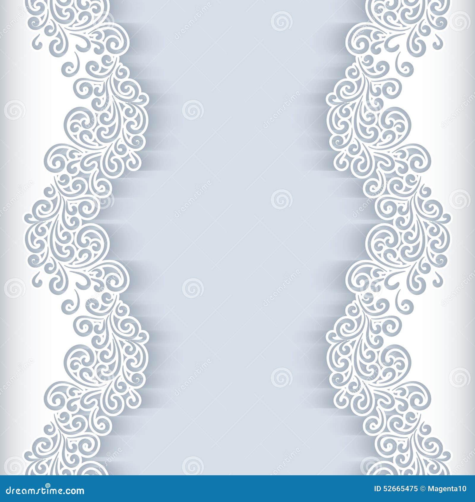 Wedding Paper: White Paper Background Stock Vector. Illustration Of Decor