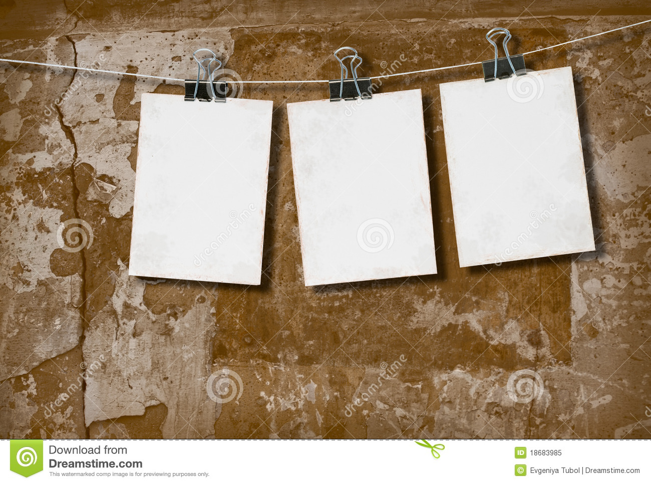 White Paper On The Background Of The Wall Stock Image