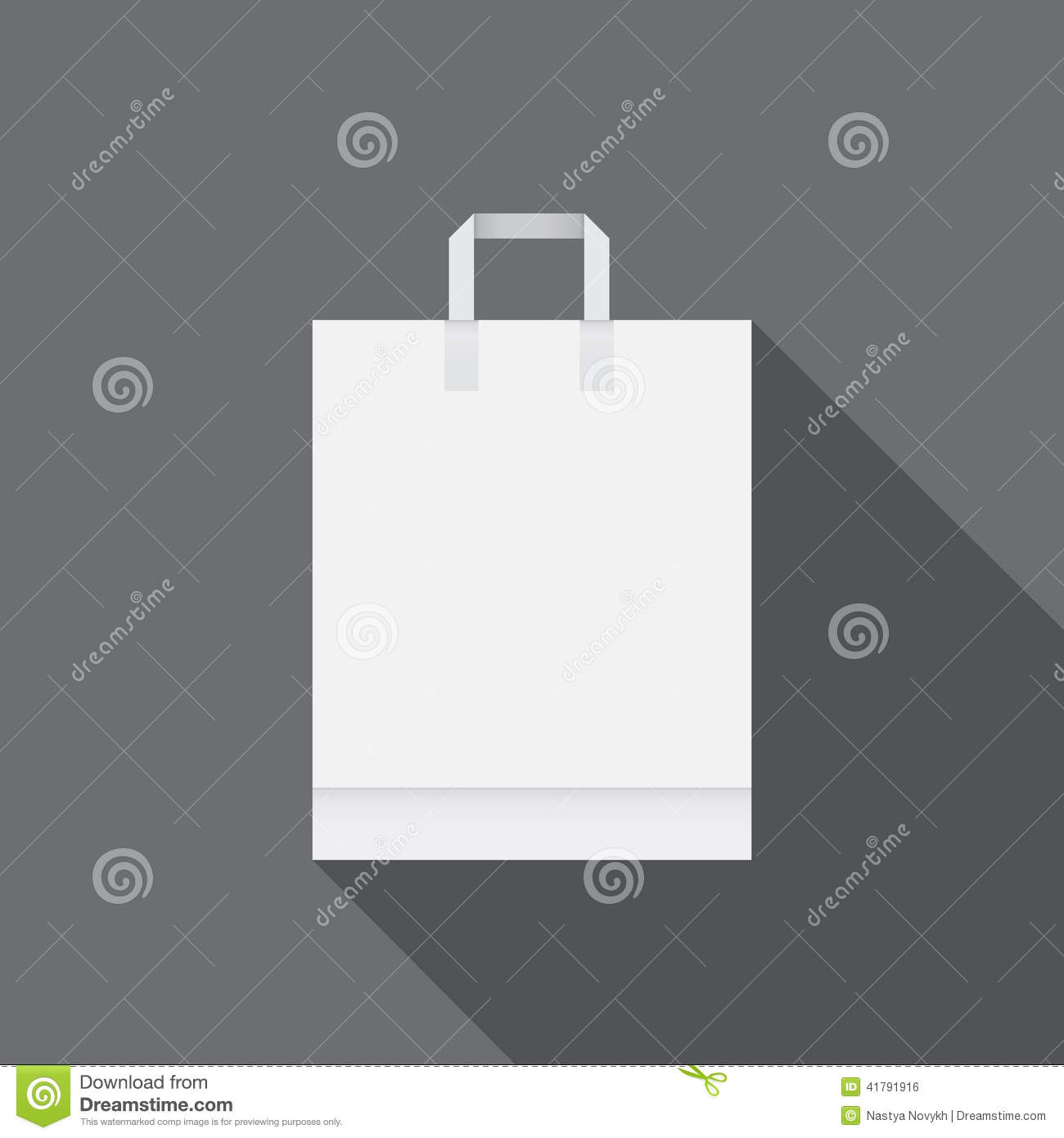 White Paper Bag For Shopping Photo Image 41791916 – Free White Paper Template