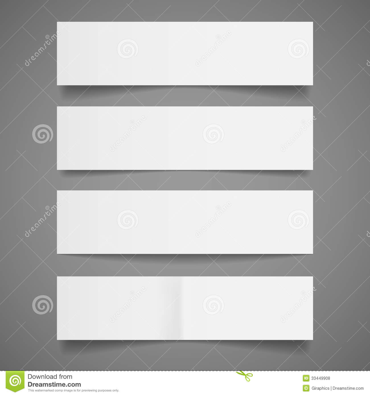 White Paper Banners Royalty Free Stock Photos - Image: 33449908