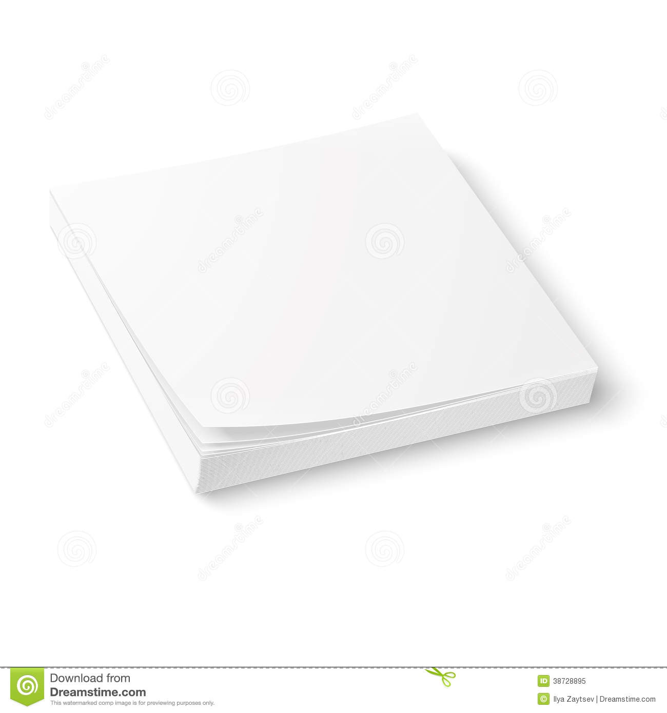 white paper block template  stock vector