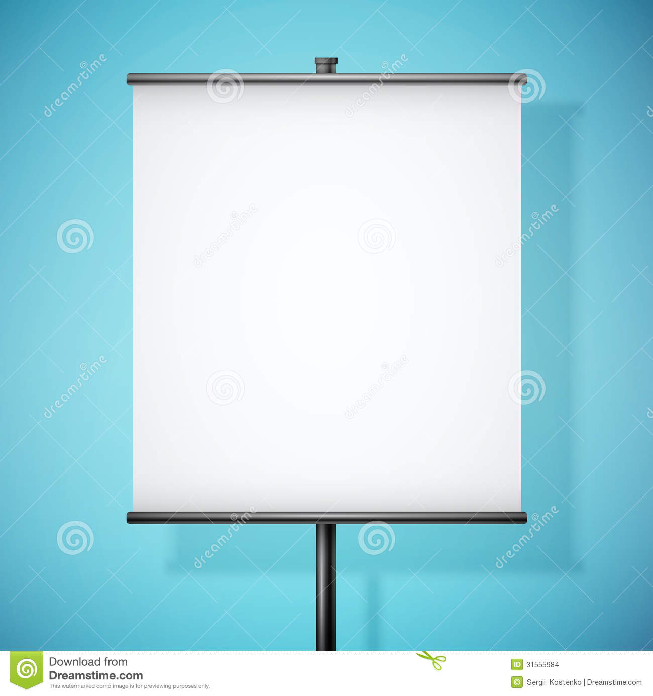 White Paper Board With Empty Space Stock Images - Image: 31555984