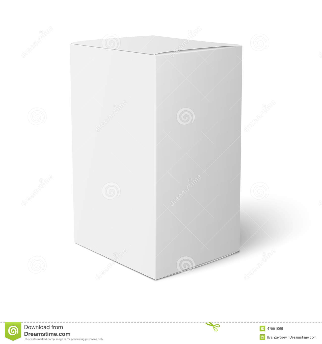 White paper box template stock vector illustration of blank 47551069 white paper box template maxwellsz