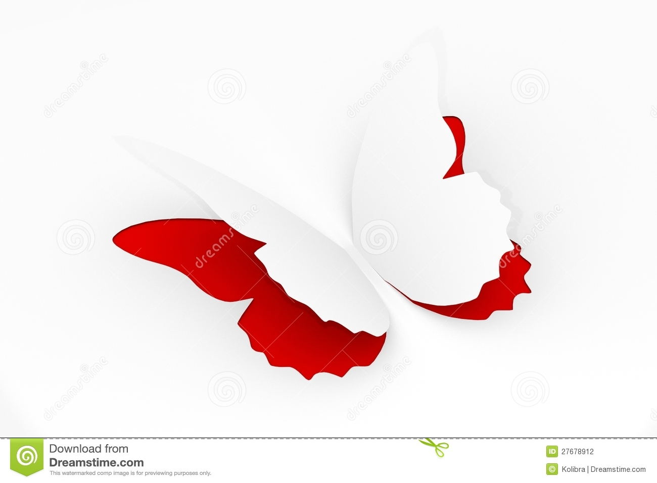 White paper butterfly stock photography image 27678912 for White paper butterflies