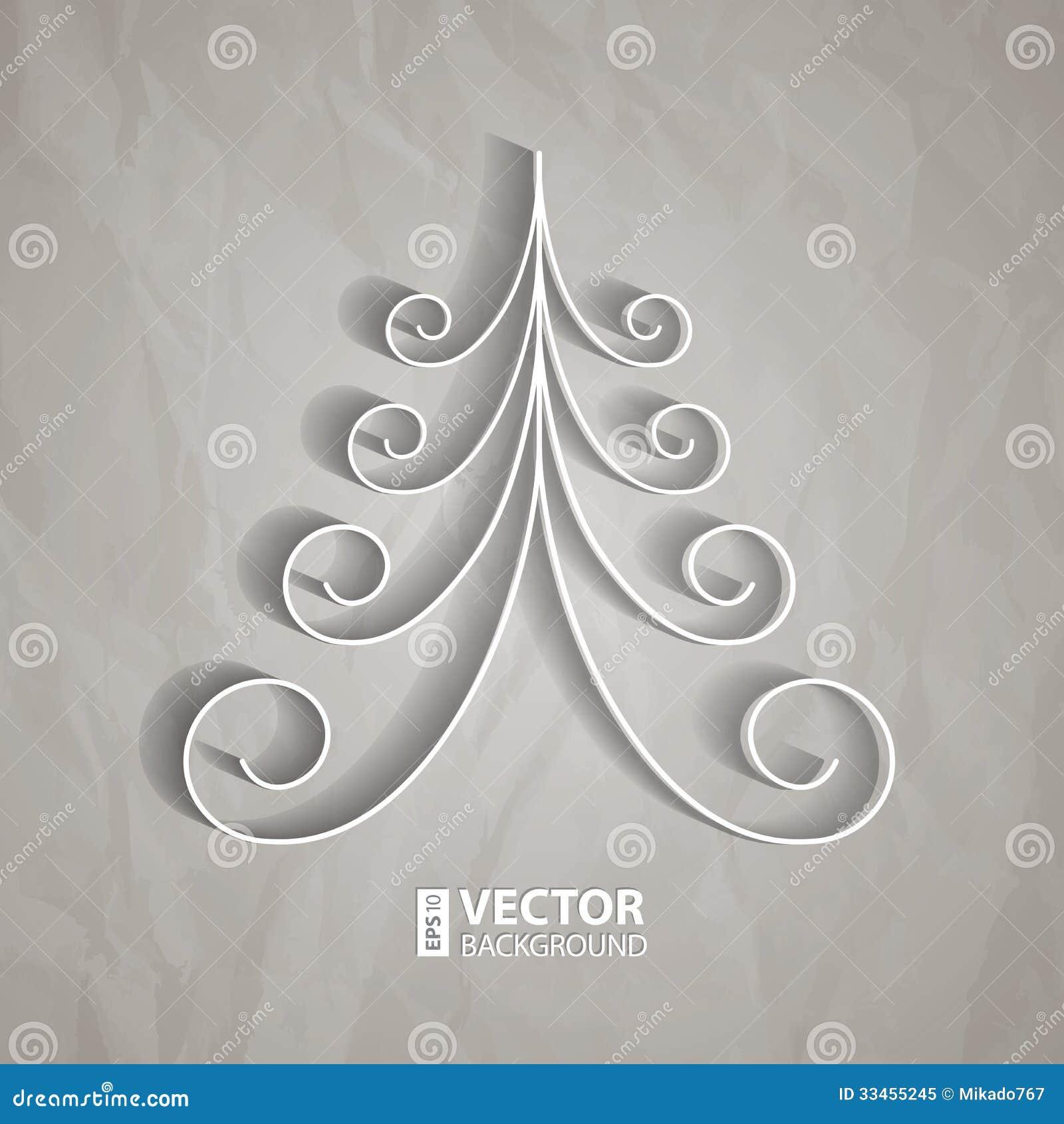 Grey Christmas Tree White Paper Christmas Tree Royalty Free Stock Photo Image 33455245
