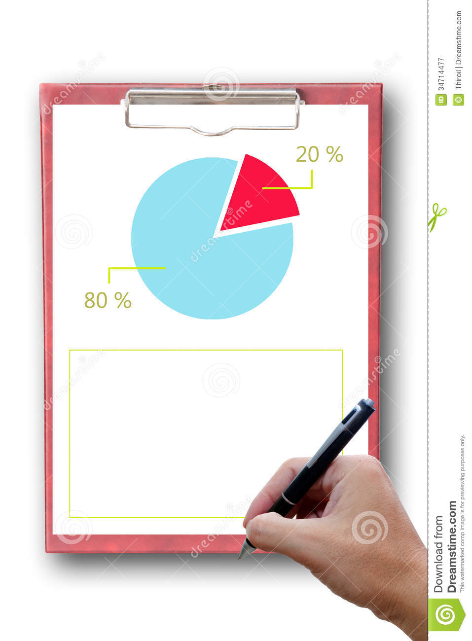 White Paper On Clipboard Report A Graph. Royalty Free Stock ...