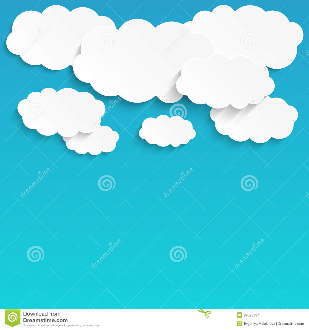 White paper clouds royalty free stock photography image for How to make a paper cloud