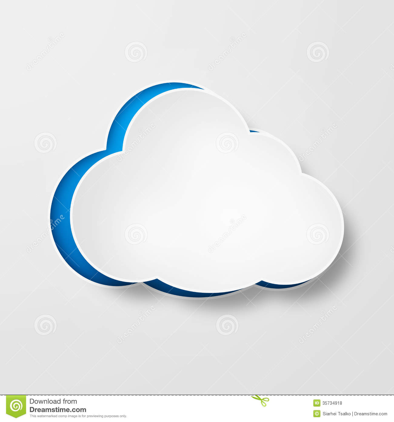White paper clouds over gradient blue background royalty for How to make a paper cloud